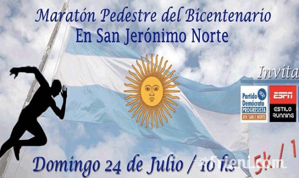 Maraton Pedestre del Bicentenario San Jeronimo Norte