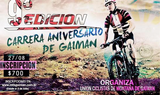Carrera Aniversario de Gaiman MTB