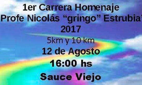 Carrera Homenaje Profe Gringo Estrubia Sauce Viejo