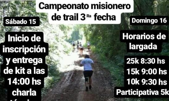 Campeonato Misionero de Trail - San Ignacio