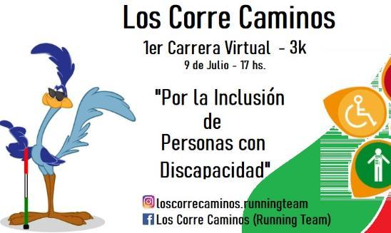 Carrera Virtual Por la Inclusion de Personas con Discapacidad