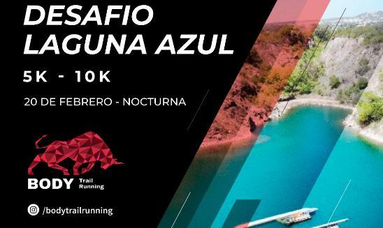 Night running La laguna azul